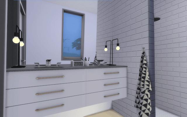 salle de bain moderne sims 4