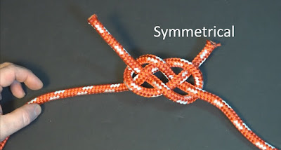 A symmetrical Carrick bend