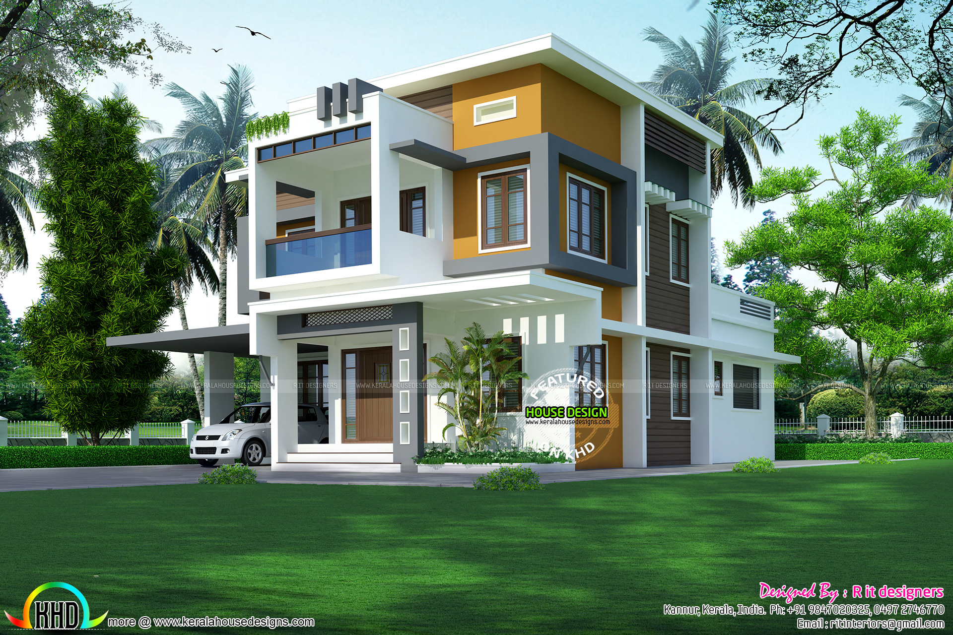 Colorful Modern Home Plan 2400 Sq Ft Kerala Home Design And Floor Plans
