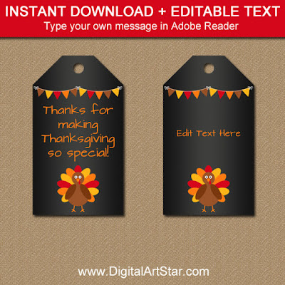 thanksgiving chalkboard tags