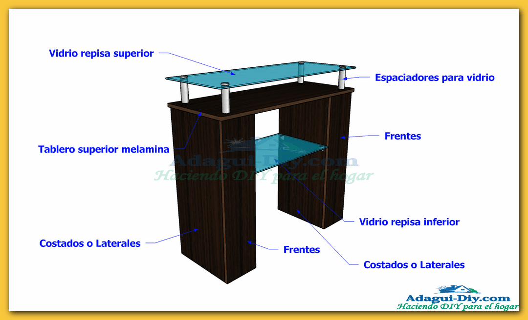 Mueble recibidor de melamina hall furniture diy adagui for Libro de muebles de melamina