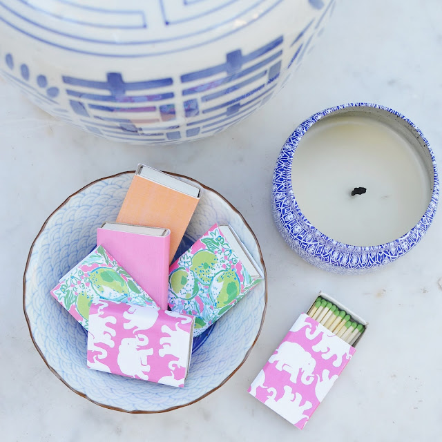 lilly pulitzer diy matchbox