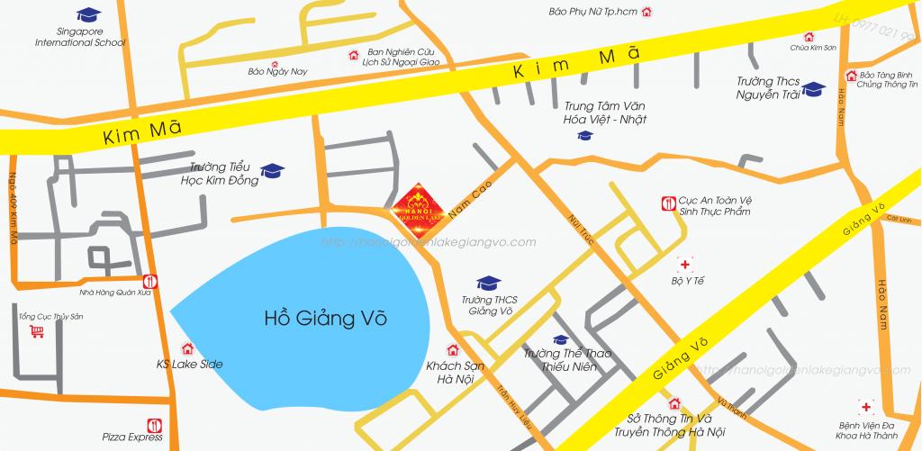 Vị trí dự án Hà Nội Golden Lake