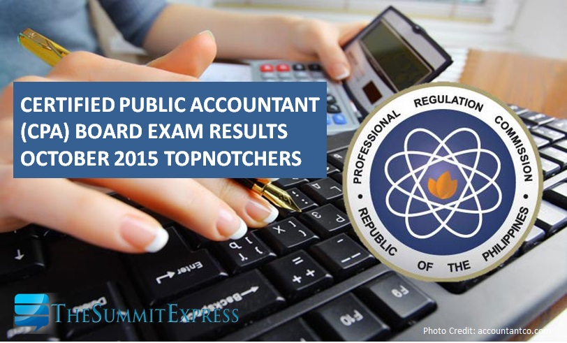 Top 10 Passers: Dagupan grad tops October 2015 CPA board exam