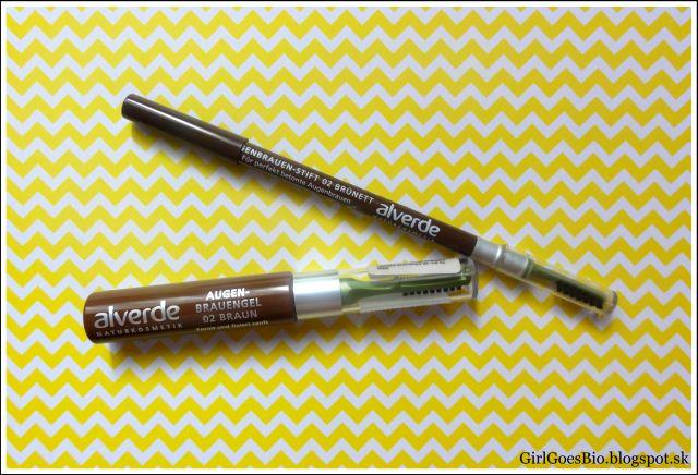 Alverde ceruzka na obocie hned a gel na obocie hnedy
