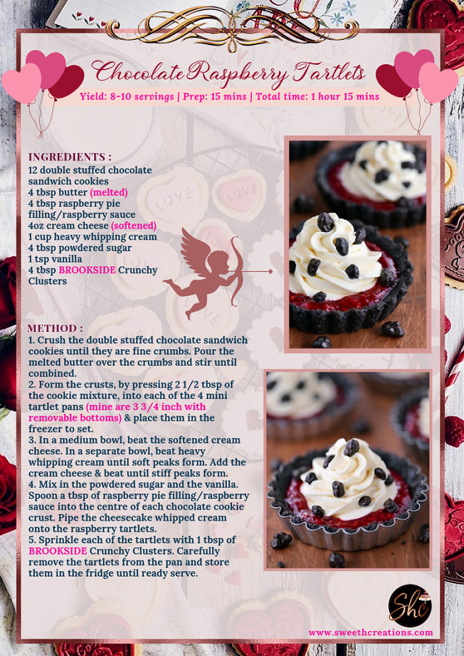 CHOCOLATE RASPBERRY TARTLETS RECIPE