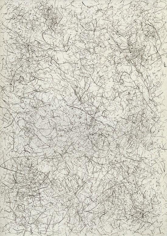 Stephan van den Burg Untitled (12pack-drawing #1), 2015 12 pencils bound together, on paper 21 x 29.7 cm