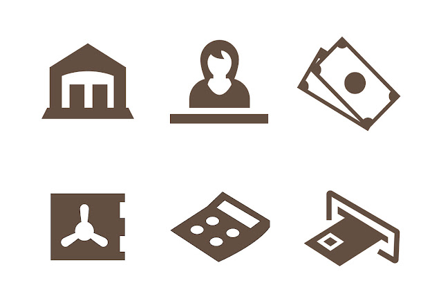Free Bank Icons Vector