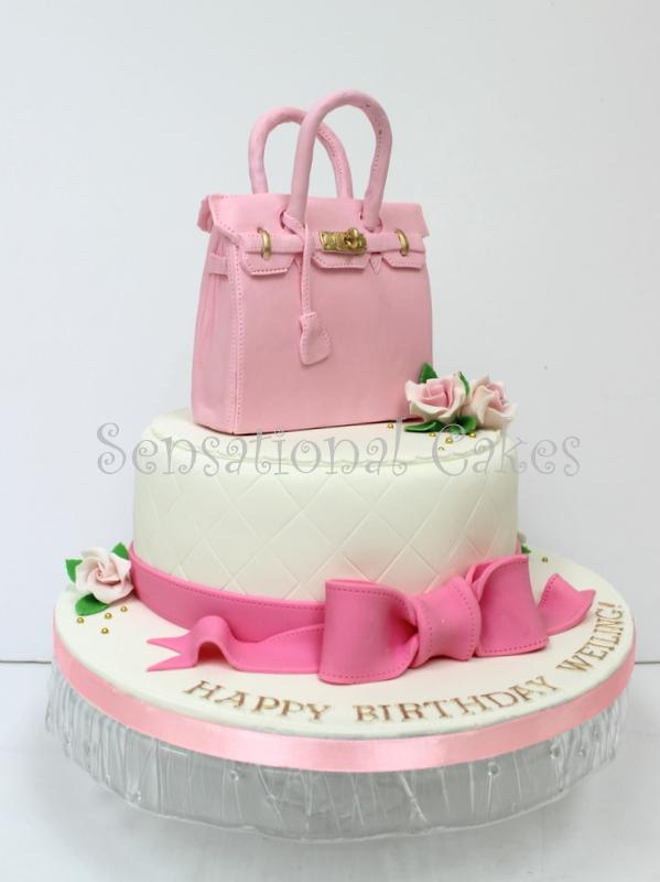 The Sensational Cakes Sweet Powder Pink Hermes Inspired