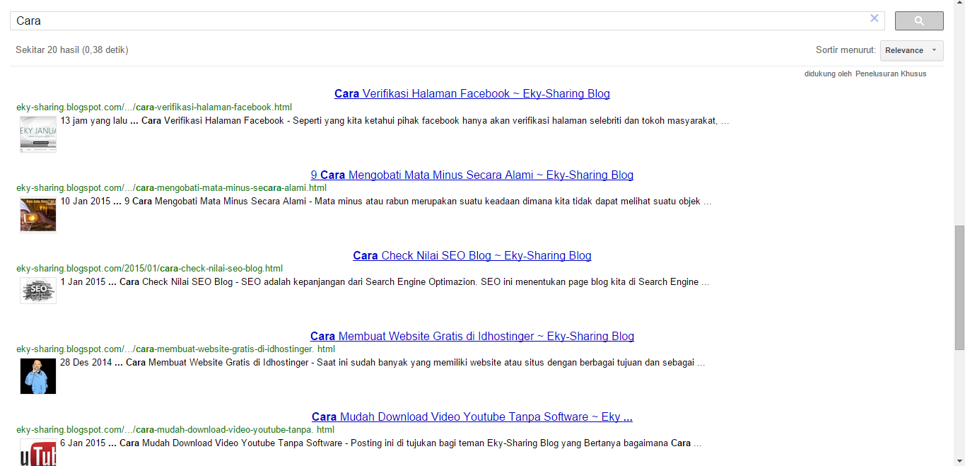 Cara Memasang Custom Search Engine di Blogger