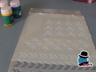 come utilizzare gli stencil su stoffa