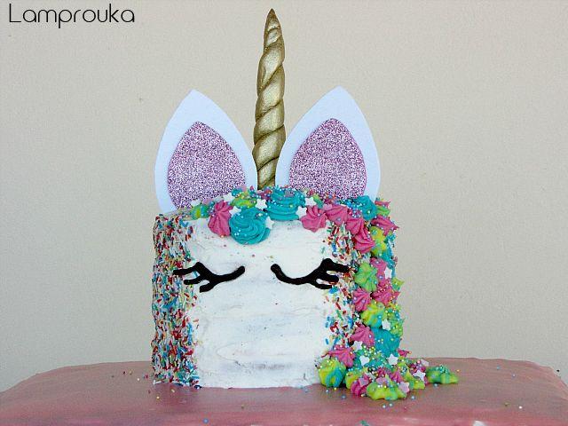 Φτιάξε μια καταπληκτική διώροφη τούρτα μονόκερος.