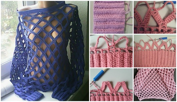 Jersey Calado Red Crochet
