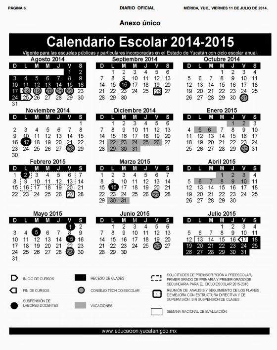 Publican nuevo calendario escolar 2024-2015 para Yucatán