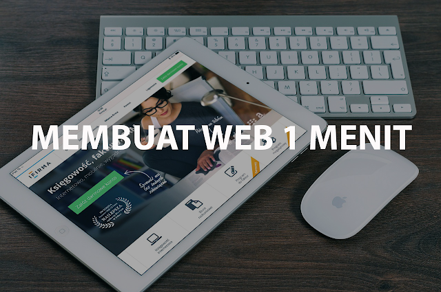 Membuat Website dalam 1 Menit