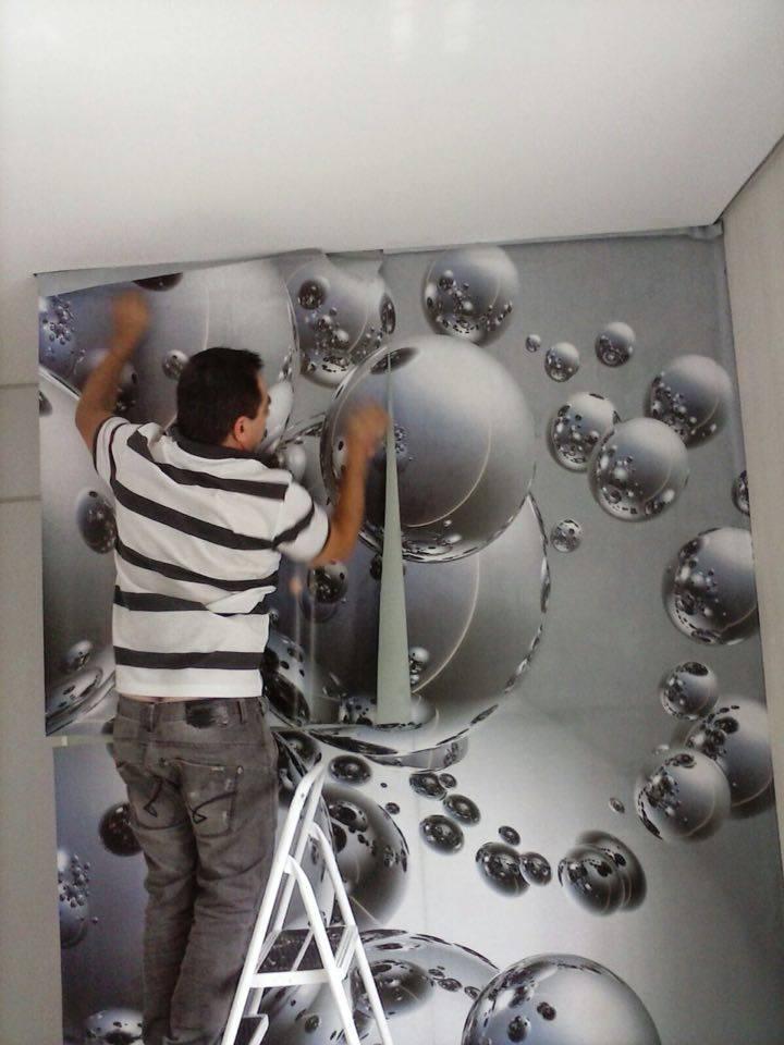 Adesivo Para Azulejo De Cozinha Pastilha ~ Colocador de Papel de Parede instalador de adesivo