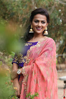 Actress Shraddha Srinath in Purple Chania Choli Cute Pics ~  Exclusive 28.jpg