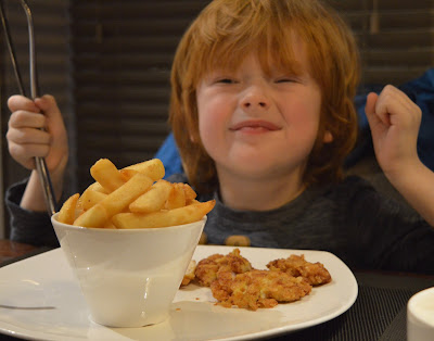 Children's crispy chicken and chips from Mantra Thai, Newcastle Quayside