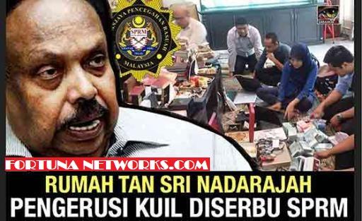 SPRM Serbu Rumah Tan Sri Datuk R.Nadarajah Barangan Mewah dan Wang Berjuta Dirampas