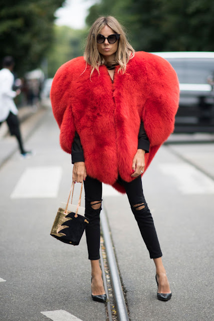Erica Pelosini at Milan Fashion Week. Photo: Christian Vierig/Getty Images