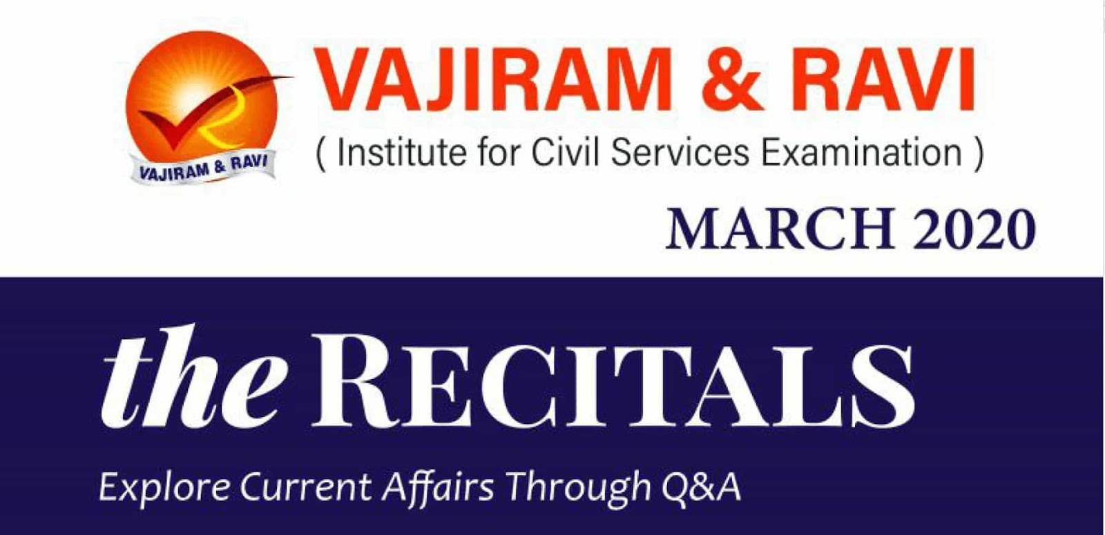 Vajiram Current Affairs March 2020