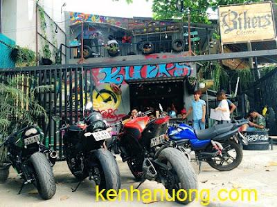 Quán cà phê dành cho người yêu thích xe mô tô ở Sài Gòn