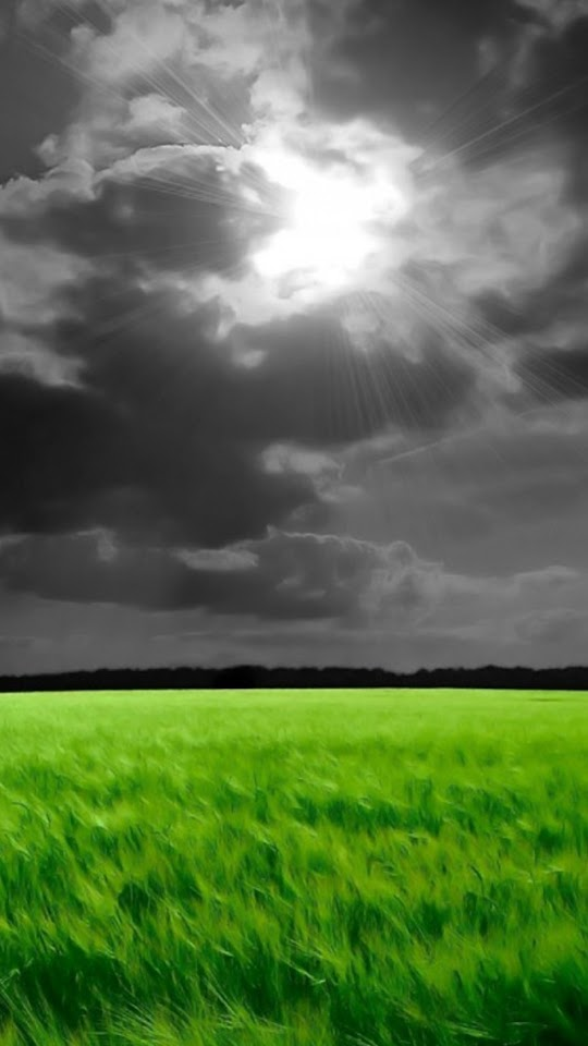 Dark Clouds Over The Fields   Galaxy Note HD Wallpaper