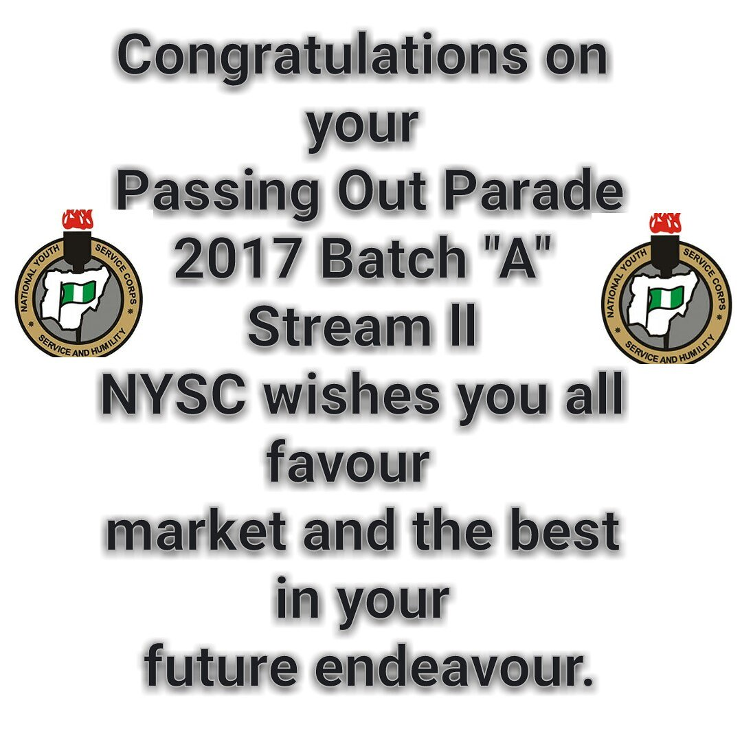 "Congratulations to all 2017 Batch ""A"" Stream ll on your POP Ceremony"