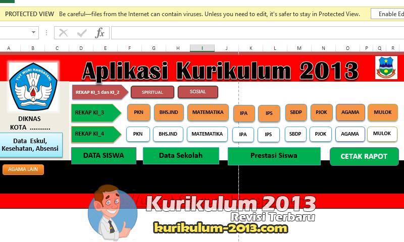 Aplikasi Raport Kurikulum 2013 Hasil Revisi 2016-2017 - Raport Kurikulum 2013