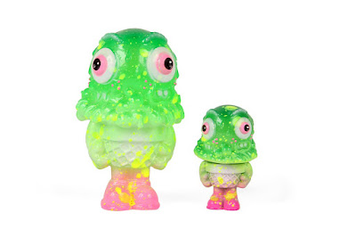 "2-Face Mister Melty Lime Green Edition 5"" & 3"" Resin Figures by Buff Monster"