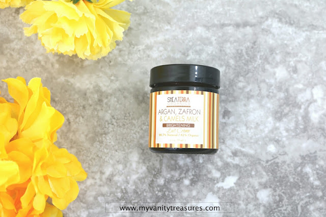 Shea Terra Organics Argan, Zafron and Camels Milk Brightening Cream