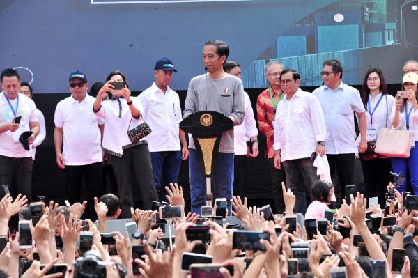 Presiden Jokowi Resmikan Operasional MRT Jakarta