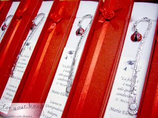 segnalibri regalo laurea coccinella metallo
