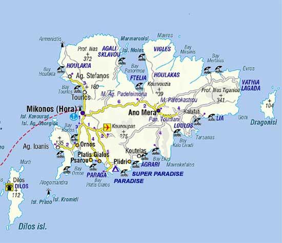 Regiões de Mykonos