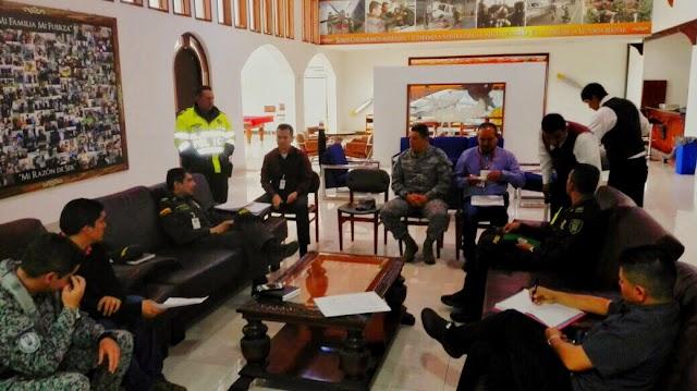 Fuerza Aérea lidera comité de seguridad con autoridades de la Sabana de Occidente
