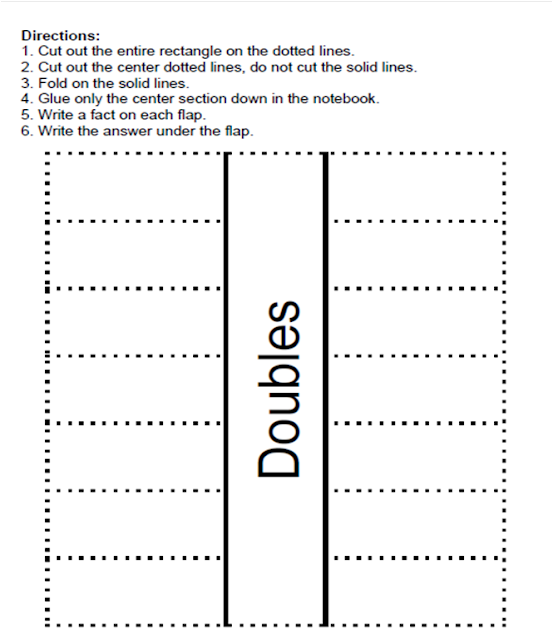 Picture of Fern Smith's FOREVER FREE Thanksgiving Subtraction Doubles Center Game Interactive Notebook Activity.