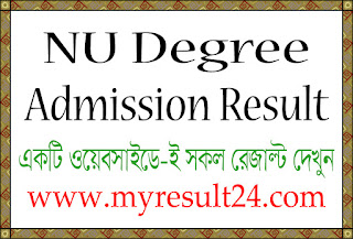 Nu degree admission result