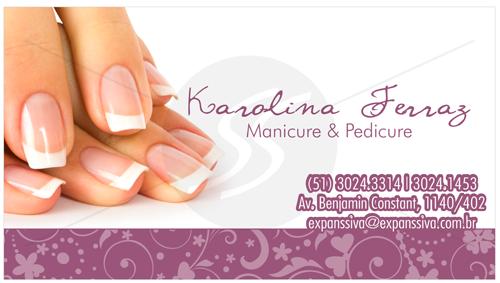 cartao de visita manicure rj - Cartões de Visita para Manicure e Pedicure