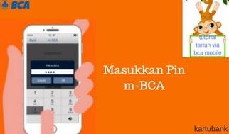 Masukkan Pin m-BCA ke applikasi untuk tarik tunai di atm