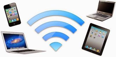 Koneksi ke internet via wi-fi.