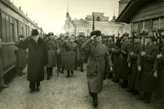 General Sikorski inspects Polish troops Buzuluk, Russia Dec 1941