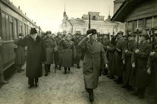 General Sikorski inspects Polish troops Buzuluk, Russia Dec 1941