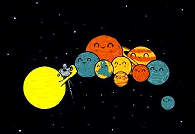 planetas juntos - infantil