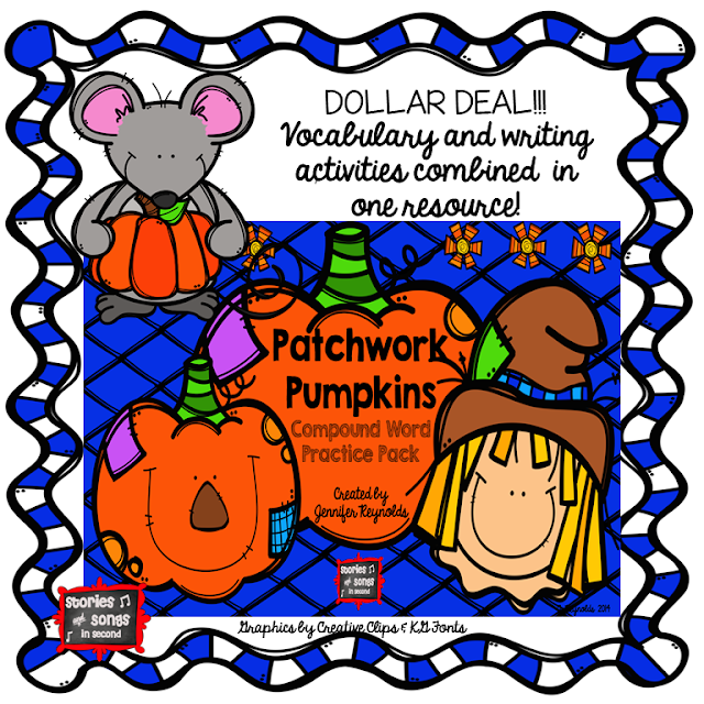 Scarecrow themes writing, word work, and mentor texts will get your young readers and writers excited about compound words!