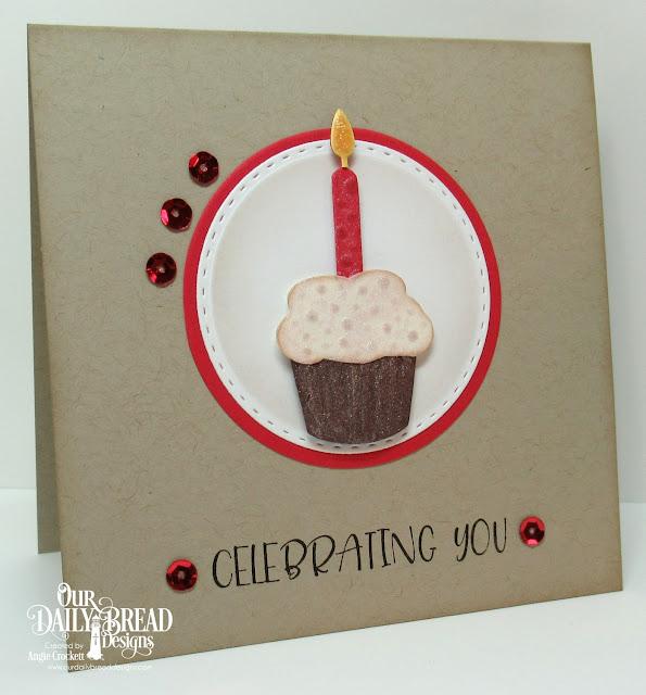 ODBD Celebrating You, ODBD Custom Cakes and Candle Dies, ODBD Custom Birthday Candles Dies, ODBD Custom Double Stitched Circles Dies, ODBD Custom Circles Dies, Card Designer Angie Crockett