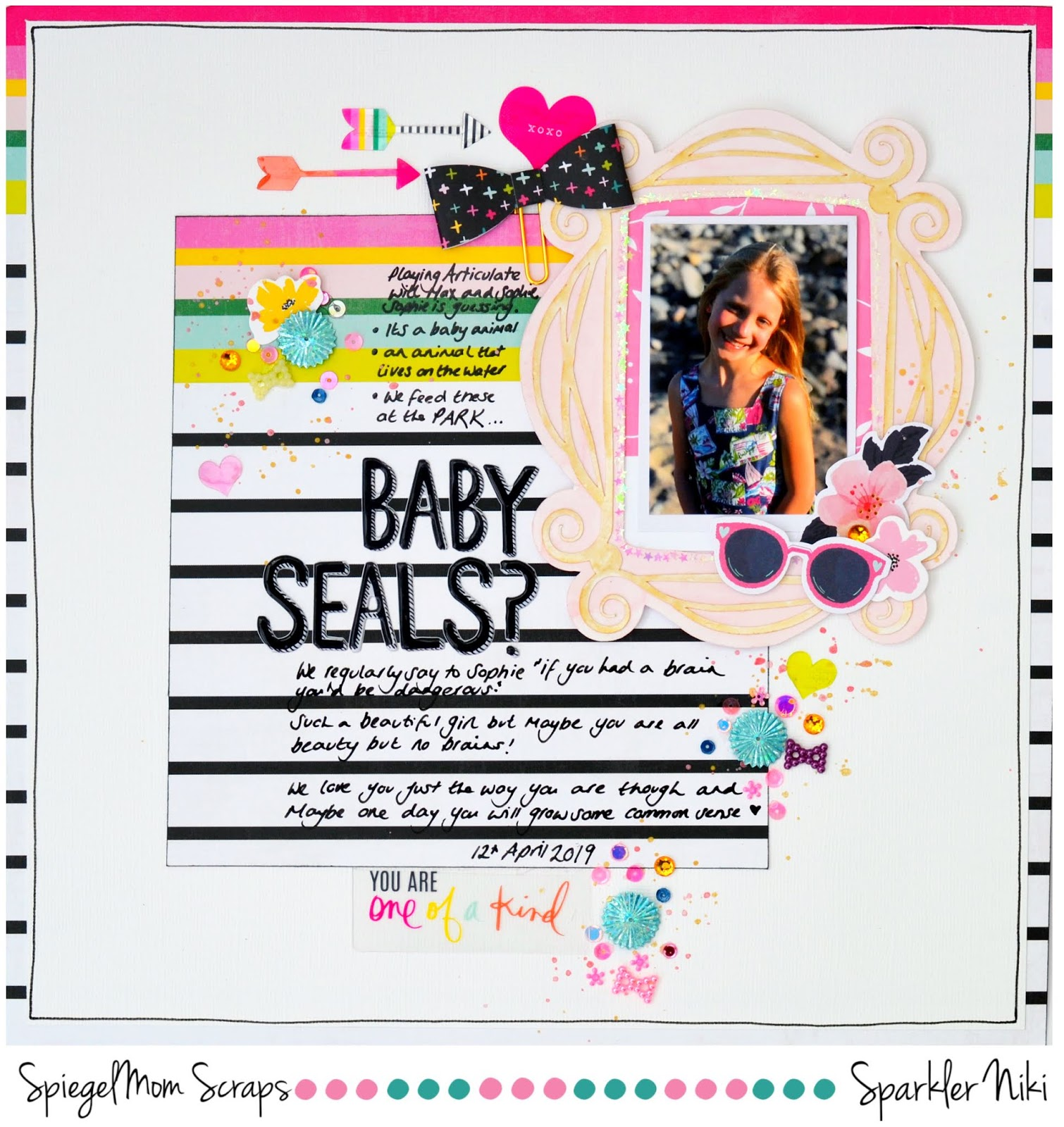 Hey There Im Up On The Spiegel Mom Scraps You Tube Channel Today With New A Layout And Process Video To Share Using Two Different Sequin Mixes From The
