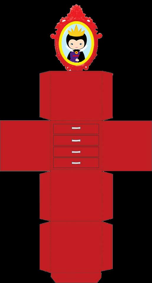 Caja de la Madrastra de Blancanieves para Imprimir Gratis.
