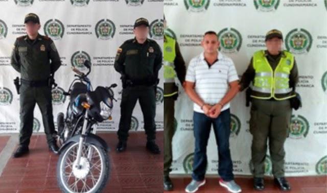 Un capturado por orden judicial y una moto recuperada dejan controles de la Policía en Girardot