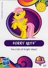 My Little Pony Wave 10 Sunny Rays Blind Bag Card