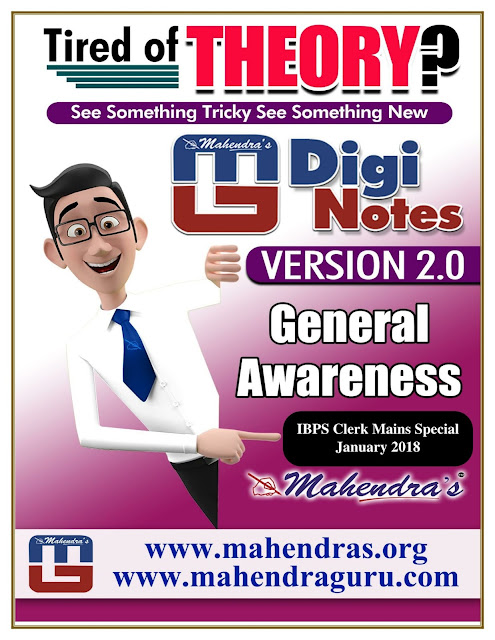 Digi Notes - 2.0 | IBPS Clerk Mains Special | 08 .01. 2018